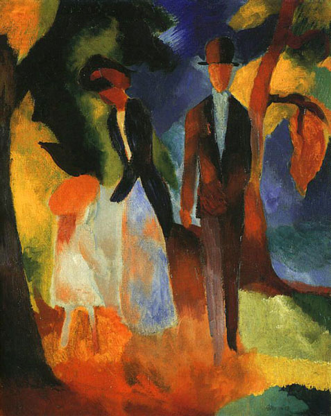 "August Macke, ""People at the Blue Lake"""