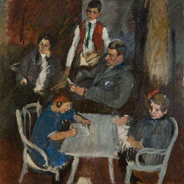 "Anton Kolig, ""Portrait of the Schaukal Family"""